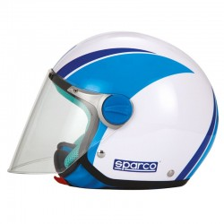 SP504PBYM 58 66551 SPARCO CASCO BIMBO SP504 PANDA BLUE YM